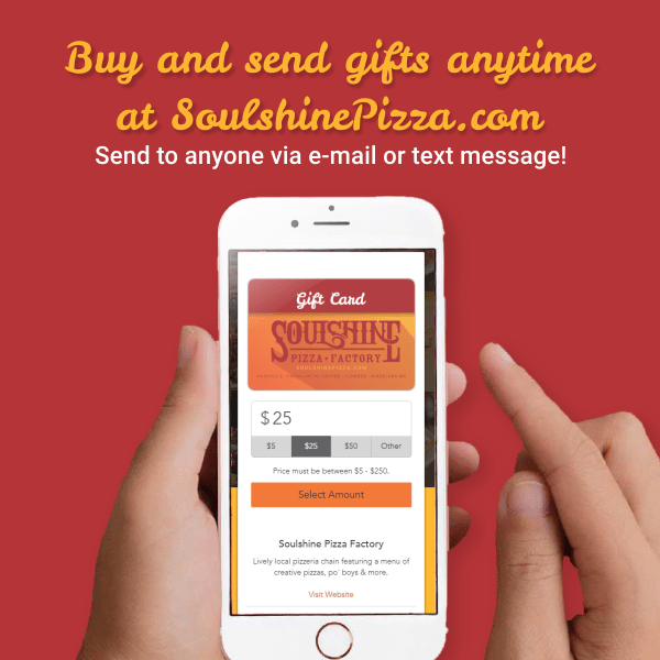 Send Gifts Instantly by Email or Text!