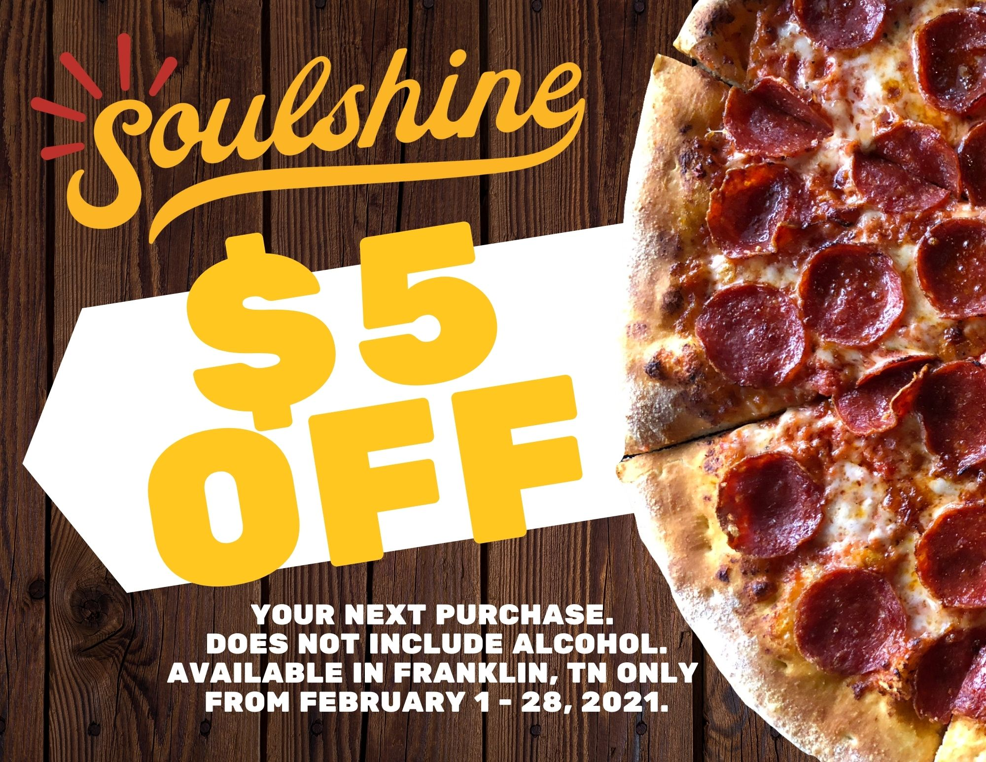 Soulshine $5 Coupon (2)